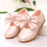 Girls & #039; Shoes Round Toe Flat Heel Flats With Bowknot Shoes More Colors Available