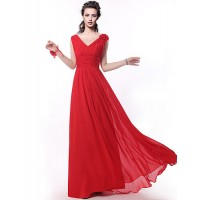 Floor-Length Bridesmaid Dress- Ruby A-Line Straps