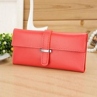 Women & #039;S Soft PU Leather Strap Long Purse