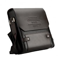 Men & #039;S PU Leather Flap Top Casual Business Crossbody Bag