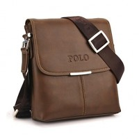 Men & #039;S Soft PU Leather Flap Top Casual Business Crossbody Bag