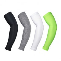 Arsuxeo Cycling Arm Warmers Uv Protection Bicycle Oversleeve Outdoor Arm Sleeves Breathable(Pair)