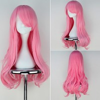 My Little Pony Fluttershy Long Wavy Pink Color Anime Cosplay Wig