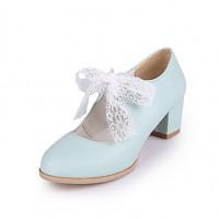 Girls & #039; Shoes Casual Heels/Round Toe Pumps/Heels Blue/Pink/White