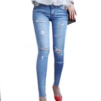 Women & #039;S Concealed Was Tattered Jeans