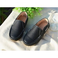 Boys & #039; Shoes Casual Leather Loafers Black/Brown/Yellow/Red/Navy