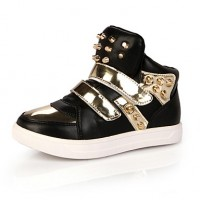 Girls & #039; Shoes Casual Comfort/Round Toe/Closed Toe Leather Fashion Sneakers Black/Red/White
