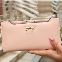 Women & #039;S PU Wallet- White/Pink/Blue/Green/Red/Black