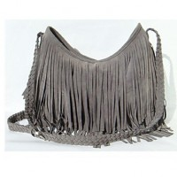 Women & #039;S PU Sling Bag Shoulder Bag- Brown/Gray/Black