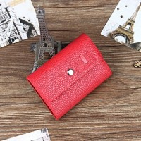Men PU Casual Card & Id Holder- Brown/Red/Black