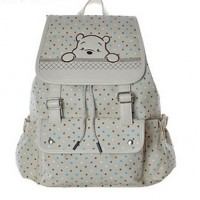 Women Canvas Baguette Backpack- Beige/Pink/Purple/Blue