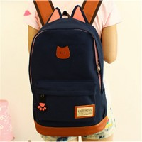 Women Canvas Baguette Backpack- Blue/Brown/Red/Black