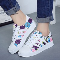 Women & #039;S Shoes Flange Print Platform Comfort Fashion Sneakers Outdoor/Casual Black/White