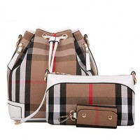 Women PU Barrel Shoulder Bag- White/Blue/Gold/Red/Black