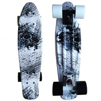 Painting Graphic Printed Plastic Skateboard (22 Inch) Cruiser Board With Abec-9 Bearing