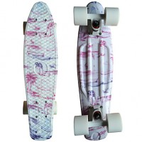 Pine Tree Graphic Printed Plastic Skateboard (22 Inch) Cruiser Board With Abec-9 Bearing