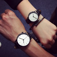 Fashion New Women Casual Waterproof Cool Minimalist Unisex Quartz Wristwatches Relogio Watches Couple Watch