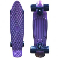 Anodized Plastic Skateboard (22 Inch) Cruiser Board With Abec-9 Bearing Purple