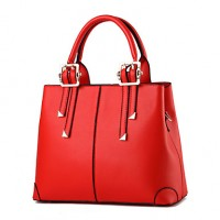 Women & #039;S Fashion Casual Solid PU Leather Messenger Shoulder Bag/Totes