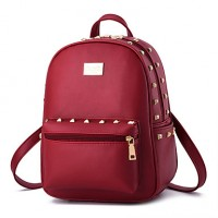 Women & #039;S Fashion Casual PU Leather Backpack