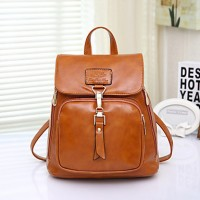 Women & #039;S Fashion Vintage PU Leather Backpack