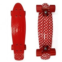 Pp Plastic Skateboard (22 Inch) Cruiser Board Red & White Color