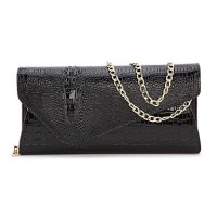 Women Cowhide Envelope Shoulder Bag/Clutch/Evening Bag/Card & Id Holder/Mobile Phone Bag/Business Card Holder