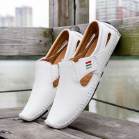 Men's Slip On Hollow Leather Shoes