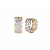 Women's Hollow Earrings 18K Gold Platinum Sterling Silver Earrings