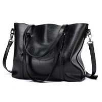 Women's cowhide leather vintage fashion large size Crossbody Bags