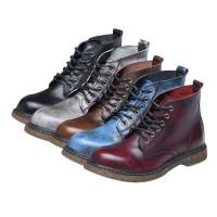 Men's Classic Waterproof Combat Leather Boots
