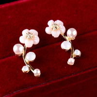 Women's Fashion Jewelry Elegant Flower Crystal Rhinestone Ear Stud Earrings