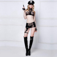 Women's Sexy Cosplay Adult Police Costume Officer Uniform