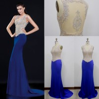 2016 new sexy hand-beaded fishtail upscale toast clothing evening dress bridesmaid dress dress chaired