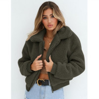 Women's Winter Fashion Casual Warm Teddy Fur Winter Jacket