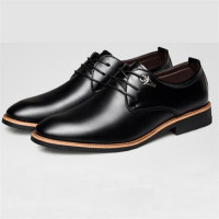 Men's Leather Pointed Business Suit Male Wedding Dress Flat Shoes