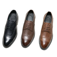 Men's Retro Breathable Lace Up Oxford Leather Business Shoes