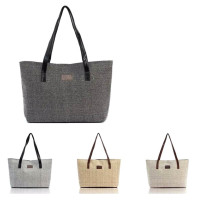 Women's Casual Canvas Linen Tote Bag