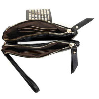 Women's Cool Punk Stud Card Coin Clutch Wallet Evening Tote