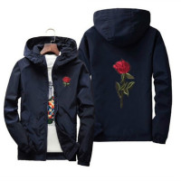 Women's hooded embroidered jacket