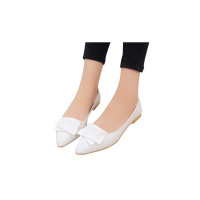 Ladies Summer Pointed Solid Color Flat Shoes