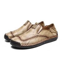 Men Moccasins Leather Penny Shoes