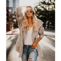Women's Casual Long Sleeve Thickened Loose Faux Fur Cardigan with Pockets Slim Fit Cardigan
