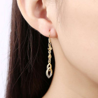 Vintage Party Rose Gold Plated Diamond Earrings