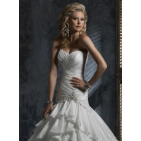 New models of high-quality products and high-end custom wedding taffeta sexy peach low-cut long tail wedding winter essential