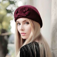 Popular autumn and winter hat lady material wool beret hat cap warm hat Ms.