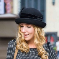 Ms. popular in Europe and the US market aristocratic autumn and winter fashion wool hat material fashion warm winter hat lady