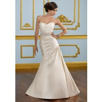 High-grade silk fabrics in Europe and the United States market new models fishtail wedding dress vintage champagne winter low prices