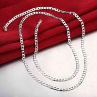 Promotions exquisite fashion jewelry low price fashion silver necklace 4 mm hot sales promotion