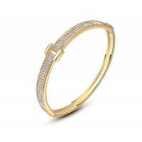 Low selling price discount jewelry European market and the US market Crystal 18K gold bracelet Fast delivery
